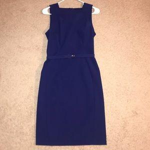 Proenza Schouler sleeveless blue dress with belt